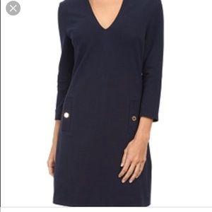 $200 Lilly Pulitzer Navy Charlena Shift Dress S